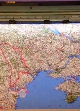 Печать карт друк мап карта мира географическая