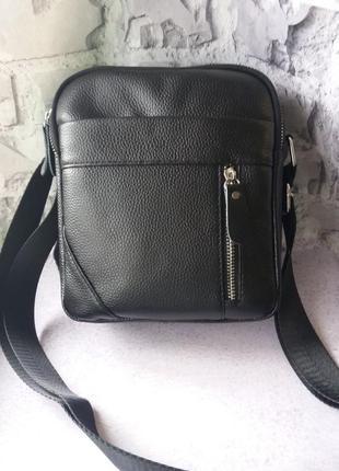 Кожаная мужская сумка чоловіча шкіряна сумочка на плечо