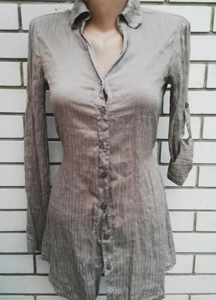 Шелковое воздушное платье(туника,рубашка)