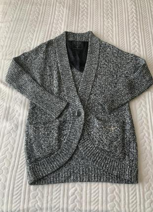 Кофта, вязаное пальто, кокон, оверсайз, guess, оригинал