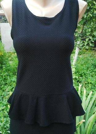 Фактурная блузка(платье) с баской