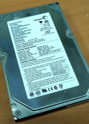 """Жесткий диск для ПК, Seagate Barracuda 3.5"""" 120GB IDE"""