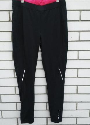 Фирменные спортивные лосины,штаны с замочками по ноге.