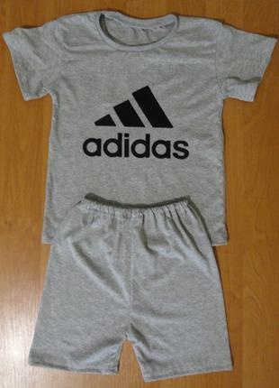 Комплект детский спортивный,  с накатом, футболка+шорты