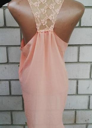 Блуза,майка с кружевом по спинке и удлиненная по заду