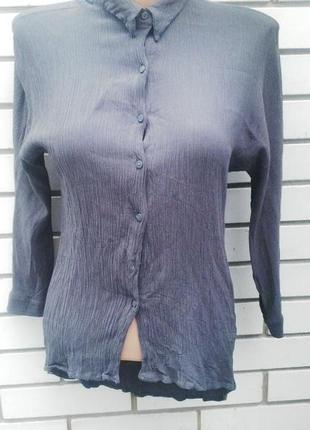 Рубашка (блузка) удлиненная по спинке(ткань жатка) zara
