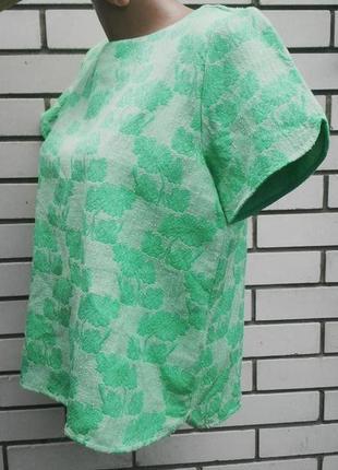 Кофточка, блузка,футболка  zara из фактурной ткани с эфектом к...
