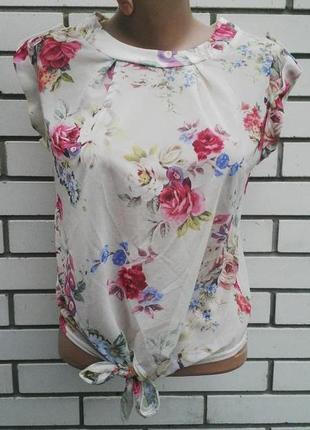 Легкая блузка в цветочный принт