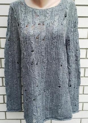 Вязаная,ажурная ,удлиненная  кофта в косы,свитер,туника   asos