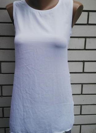 Асиметричная,комбинированная майка ,блуза удлиненная по спинке...