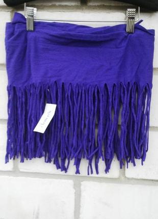 Новый шарф,снуд,хомут с бахромой claire's, хлопок