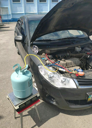 Заправка авто кондиционера R134 R12 yf1234