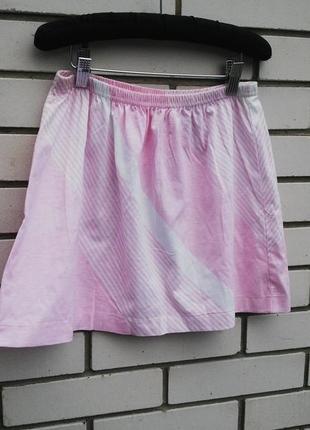 Спортивная юбка нежно-розового цвета,хлопок