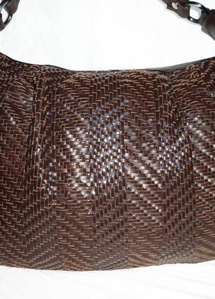 Шикарная большая сумка из натуральной кожи max mara италия