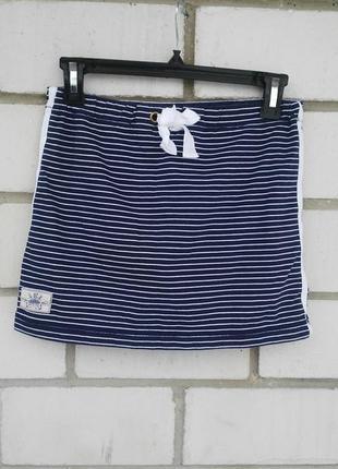 Короткая юбка-мини с шортиками,морская в полоску  ralph lauren...