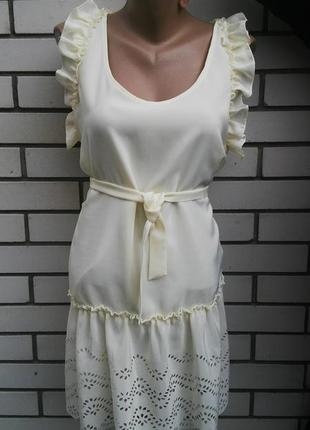 Новое платье,туника с кружевом(перфорацией)под пояс,блуза