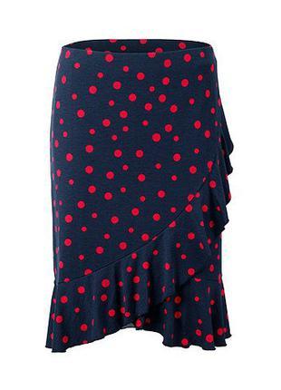 Красивая юбка из джерси в горох Tchibo. Раз. 48/50 евро-наш 54/56