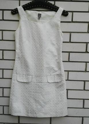 Очень красивое платье с серебристым узором,жаккардовое, сарафа...