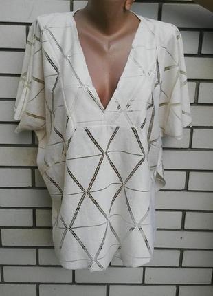 Ажурная,кружевная блузка,туника,кофточка из трикотажной ткани,...