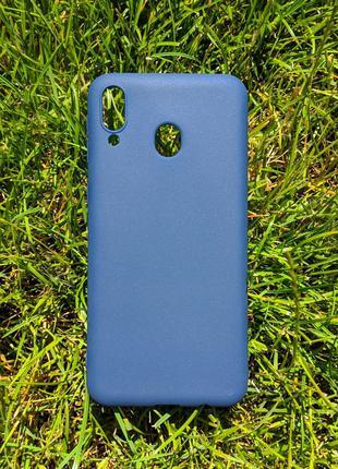 Задня накладка Samsung М20/M205 синій силікон