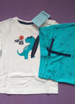 Комплект шорты футболка 74/80 impidimpi для мальчика хлопчика