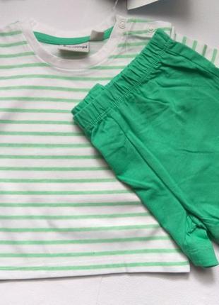 Комплект набір  футболка майка шорты шорти impidimpi 62/68 для...