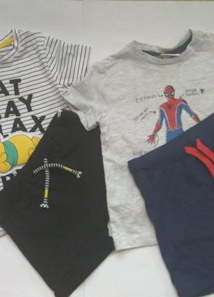 Летний комплект шорты шорти футболка 86р для мальчика хлопчика