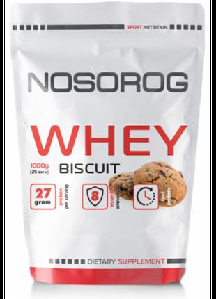 Протеин сывороточный Nosorog Nutrition Whey protein 1 кг бисквит