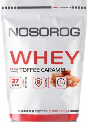 Протеин сывороточный Nosorog Nutrition Whey protein 1 кг карамель