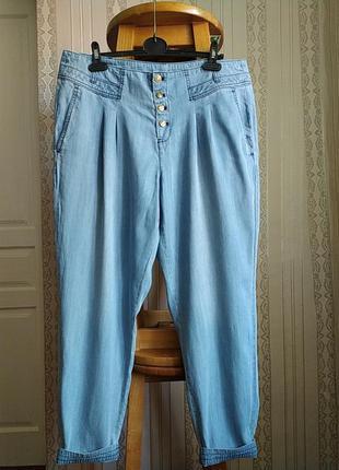 Легкие тонкие воздушние джинси бойфренди большого размера
