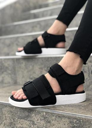 Женские босоножки adidas adilette sandal black ◈ сандалии ◈...