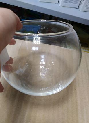 Аквариум для рыбок / круглый аквариум / аквариум для петушка