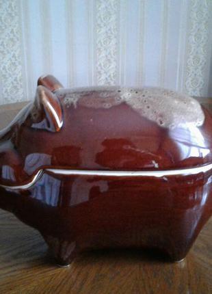 Форма для запекания утятница керамика поросенок свинья