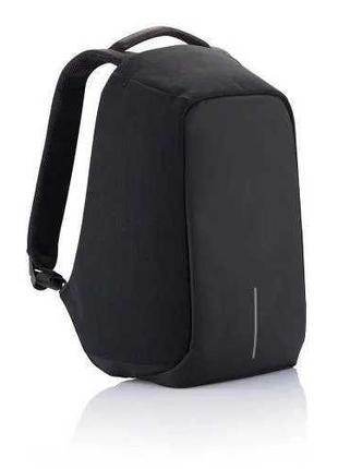 Рюкзак городской антивор с usb черный для ноутбука и других вещей