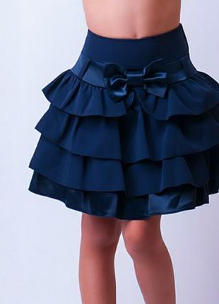 Модная и красивая школьная юбочка , т.синий, 110-138