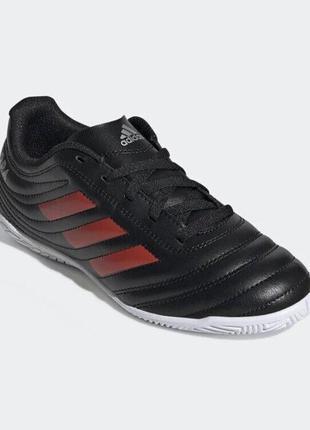 Бутсы футбольные кроссовки футзал adidas copa 19.4 in kids, 38.5