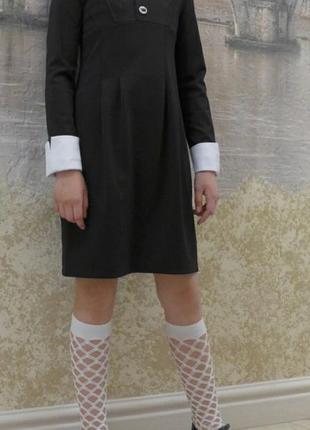 Модное школьное платье 30-40