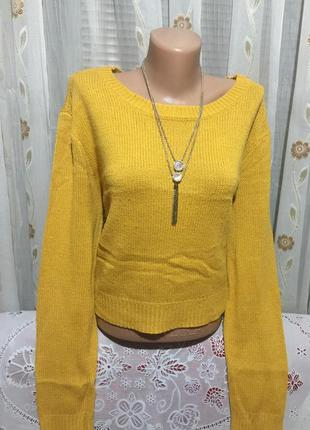 Кроп-свитер ,100% акрил, divided  h&m бангладеш! размер-l