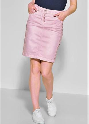 Джинсовая юбка большого размера cecil