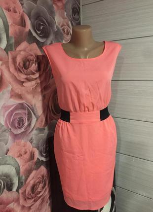 Яркое неоновое-шифоновое женское платье amisu!