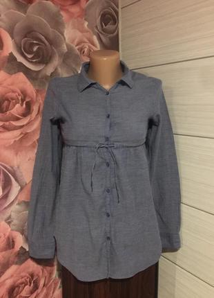 Легенькая рубашечка под джинс,на 11-12 лет!
