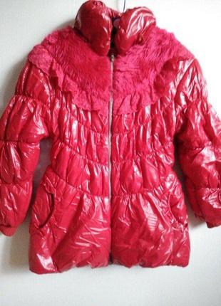 Гламурна  курточка  104-110 ріст
