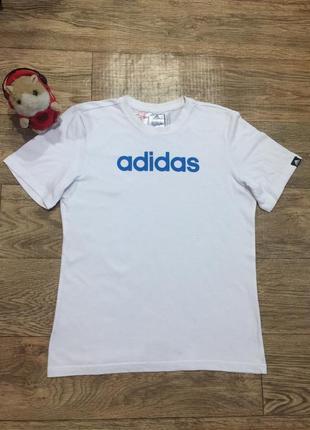 Белая футболка adidas climalite,на 13-14 лет !унисекс!оригинал