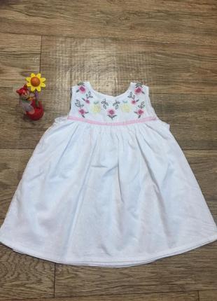 Качественное хлопковое платье  с вышивкой ,на 3-4 г. , от geor...