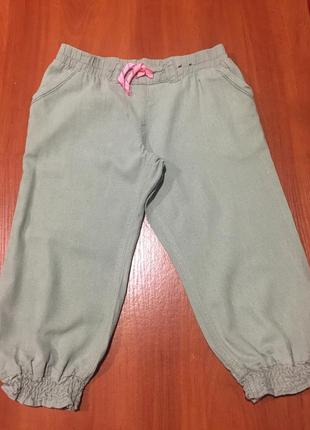 Льняные стильные  шорты - бриджи на лето -прелесть!на 9-10 лет...