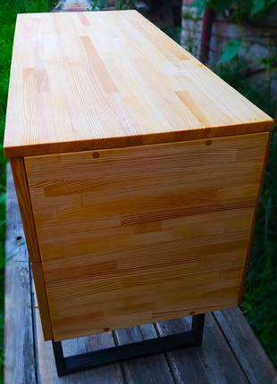 Письменный стол с выдвижными ящиками. Стол в стиле лофт