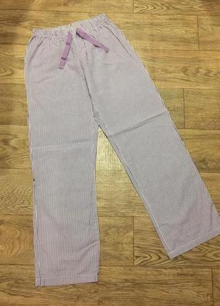 Легкие хлопковые штаны в полоску на 12-14 лет!