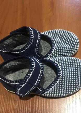 Текстильная легенькая обувь домашки в сад ,24-25 (15,5 стелька...