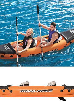 Двухместная надувная байдарка (каяк) Bestway 65077 Lite-Rapid X2