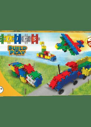 Детский конструктор Clics Box 20 в 1 - 100 элементов